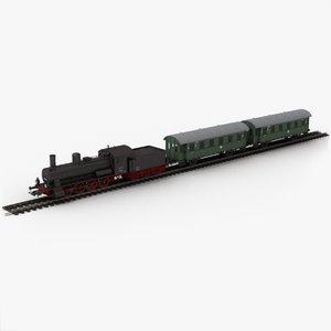 3D model piko toy train