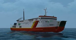 3D ferry vessel