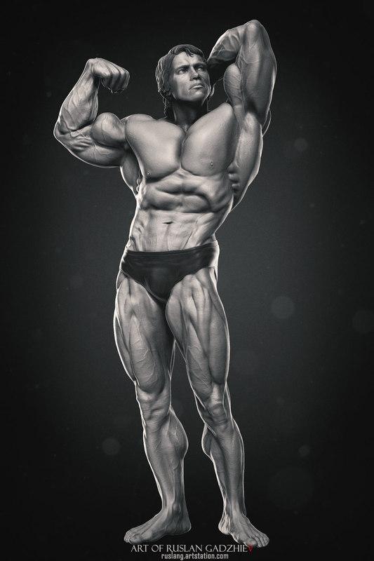 arnold schwarzenegger mr 3D model