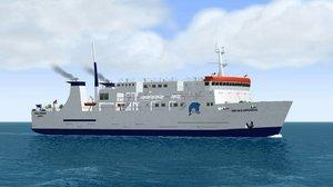 ferry vessel 3D model