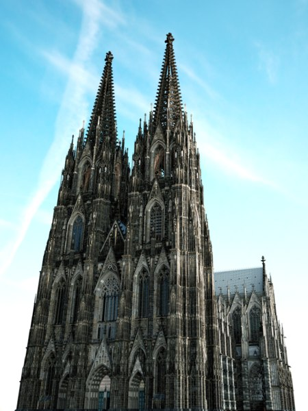 3D reconstruction cologne cathedral interior exterior