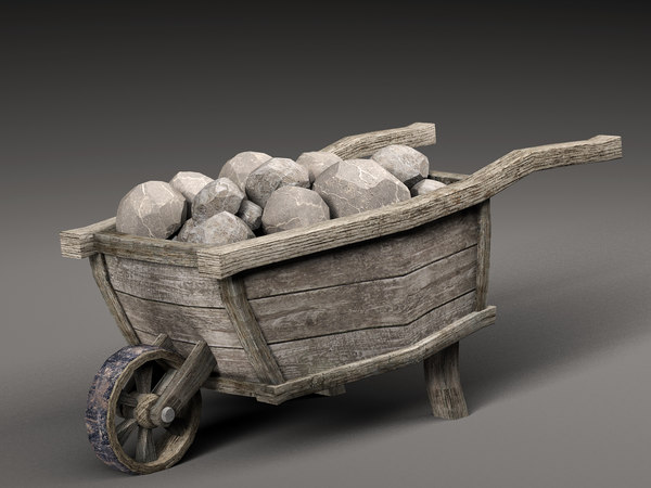 old cart stones 3D