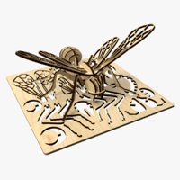 Bee Laser Cut Animated