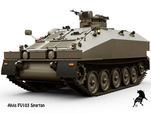 3D model british vehicle fv103 spartan
