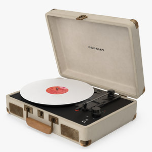 retro player crosley 3D model