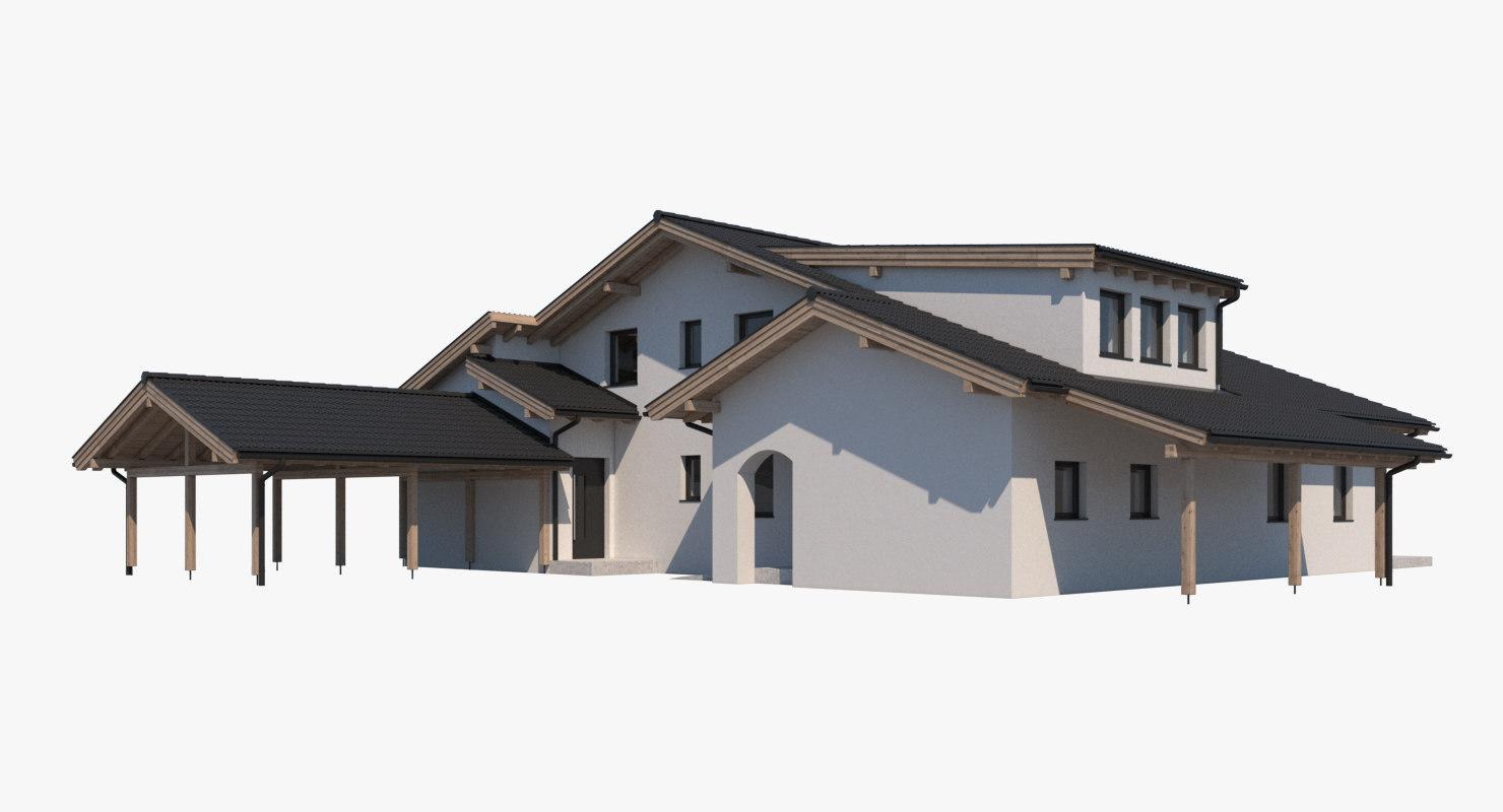 villa roof realistic 3D
