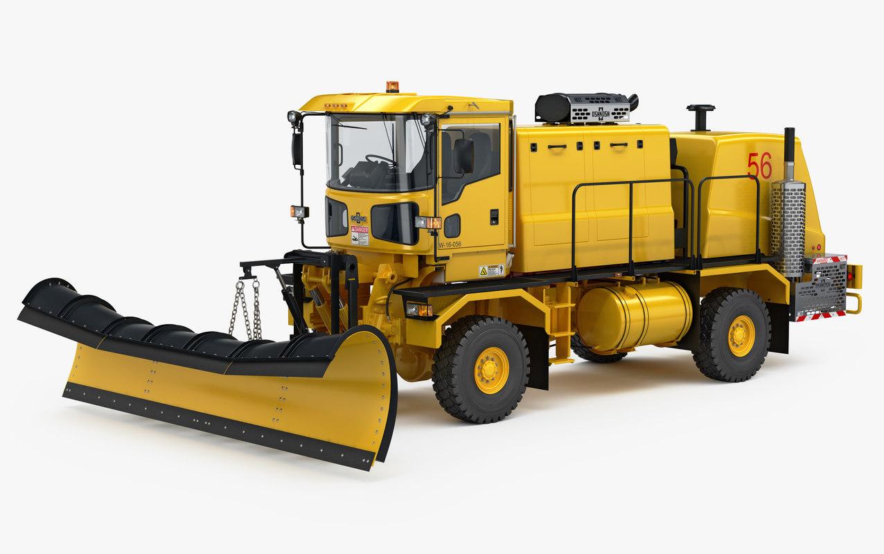3d Oshkosh Airport Snow Plow Model Turbosquid 1285829