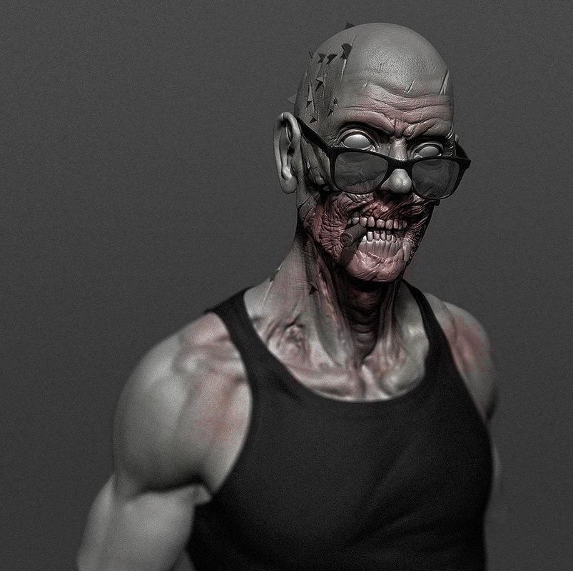 zombie cool 3D model