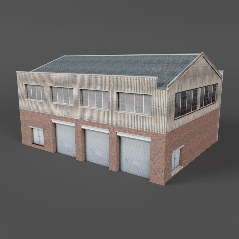 warehouse building 6 3D model