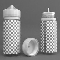 3D bottle 120ml model