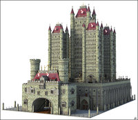 castle fantasy tower 3D model