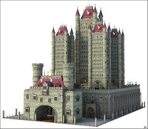 castle fantasy tower 3D model