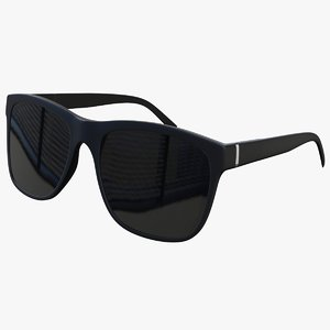 black sunglasses 3D model