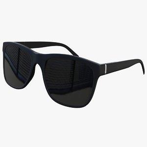 black sunglasses 3D model