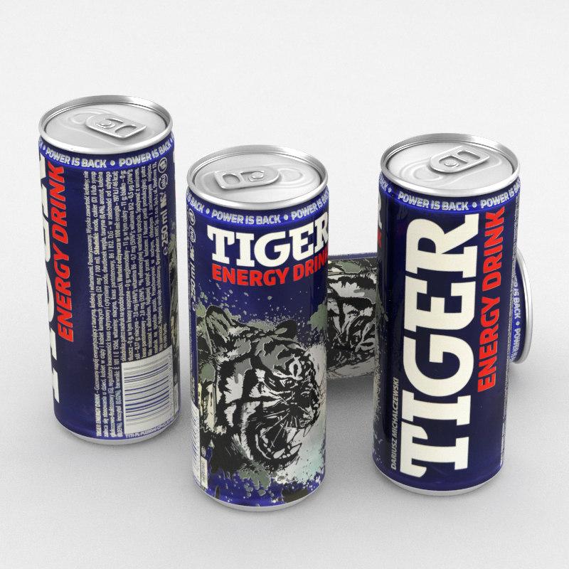 beverage drink energy 3D model