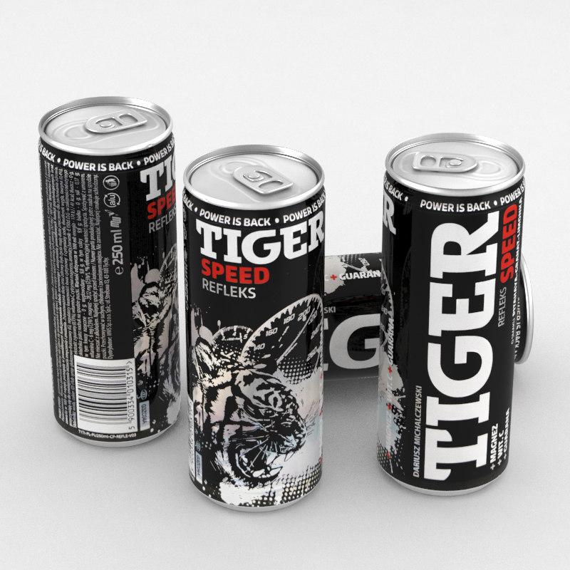 3D model beverage drink energy