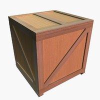 wood crate model