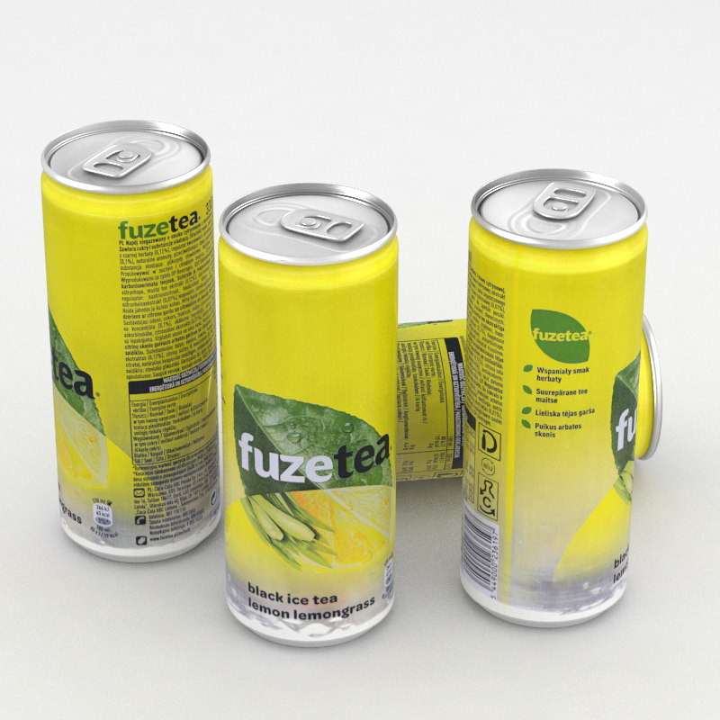 beverage icetea ice 3D model