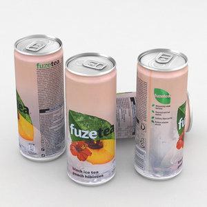 3D beverage icetea ice