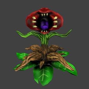 3D model carnivore plant monster