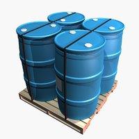 3D pallet barrels
