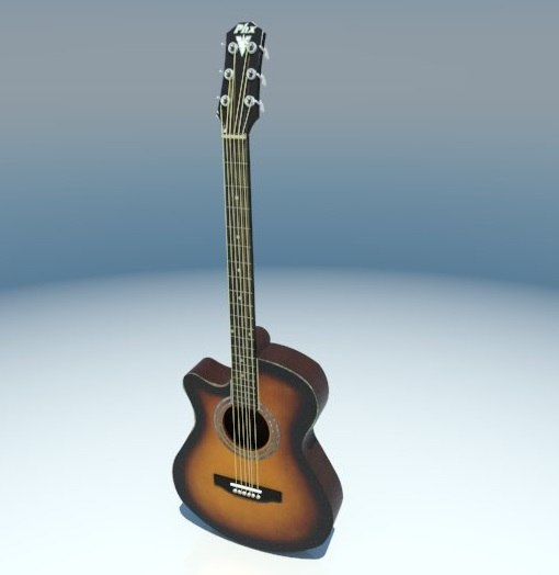 music guitar instrument 3D