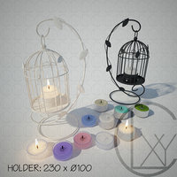 3D lantern stand candle holder model
