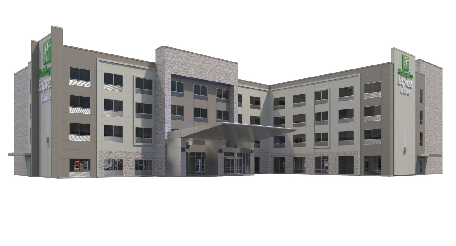 3D model holiday inn hotel