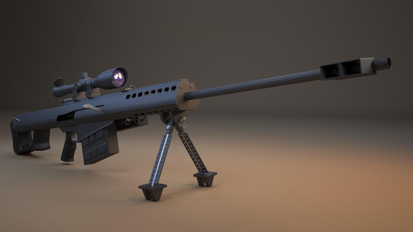 3D model barret 50