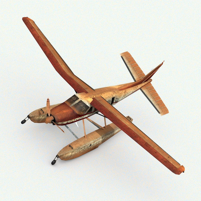 damage airplane model