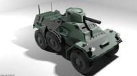 3D armoured car ferret model
