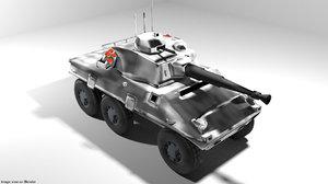 3D armoured car cascavel