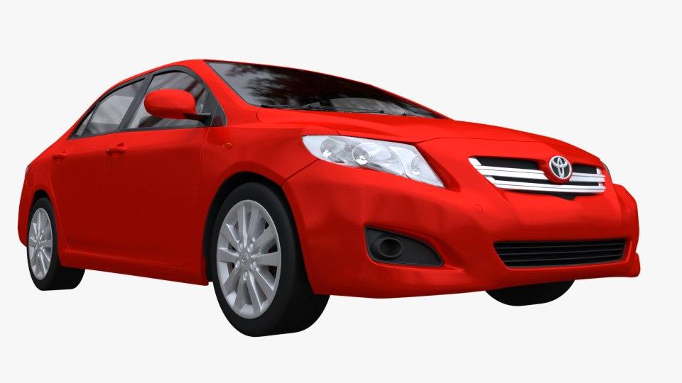 toyota corolla 2008 3D model