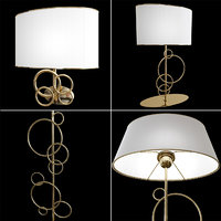 3D model decorative set table lamp