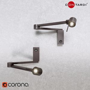3D manhattan lamp light model