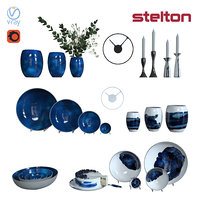 set tableware stelton cake 3D