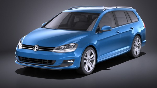3D 2014 volkswagen golf