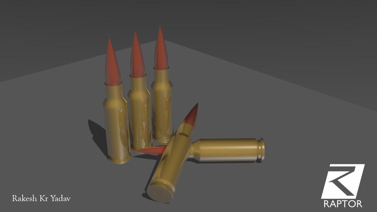3D bullet ak-47