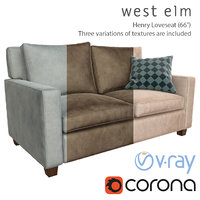 henry loveseat sofa west 3D model