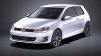 VW Golf VII GTI 2014 VRAY