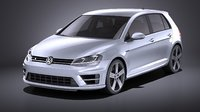 Volkswagen Golf VII R 5-door 2015 VRAY