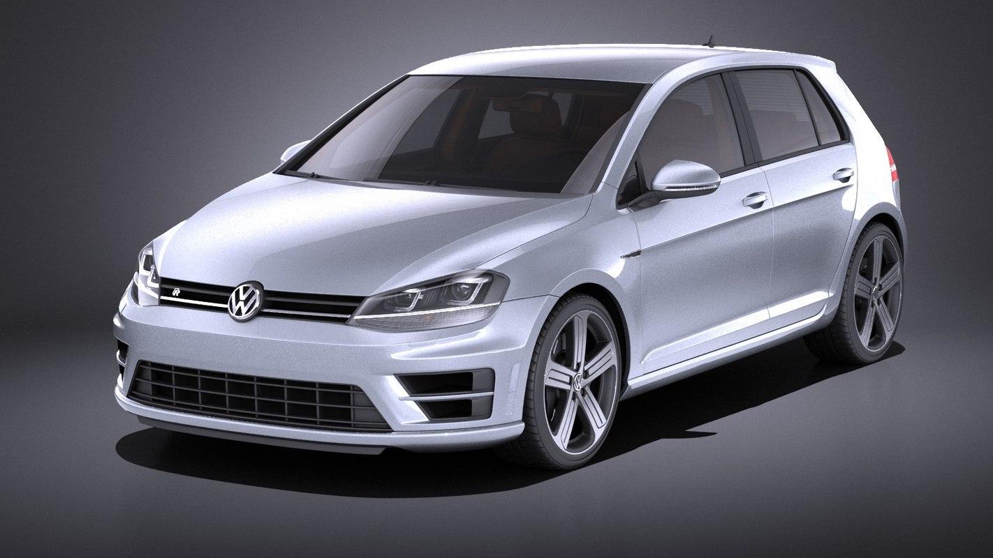 2015 5-door volkswagen 3D model