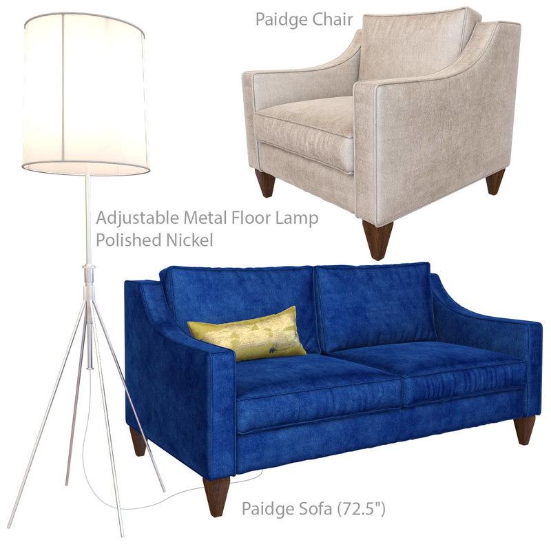 3D paidge sofa chair adjustable