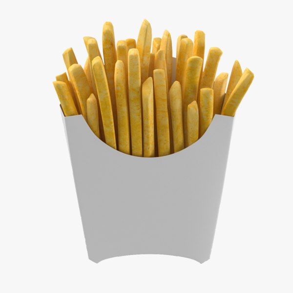 french fries box 3D model