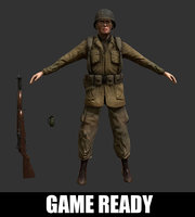 3D wwii soldier model