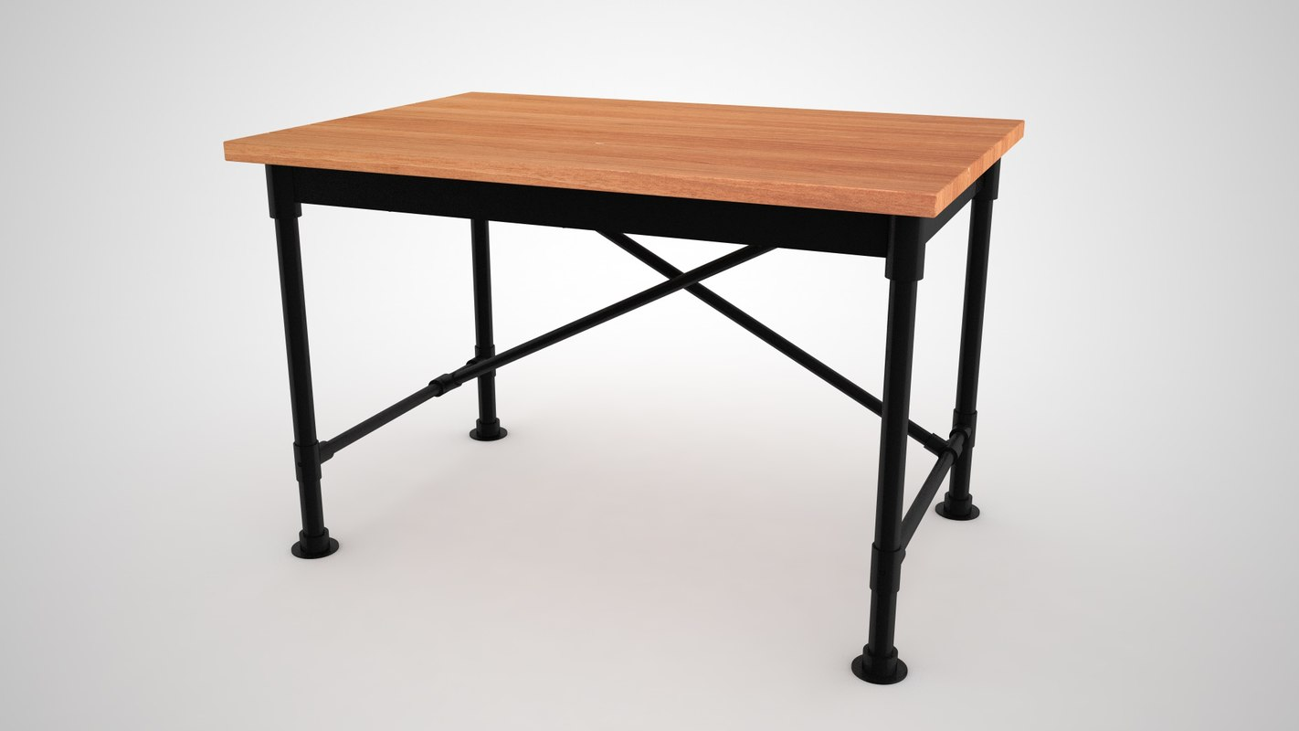 ikea kullaberg desk 3D model