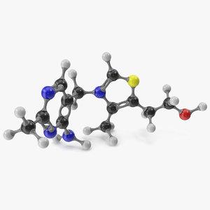 thiamine molecular model