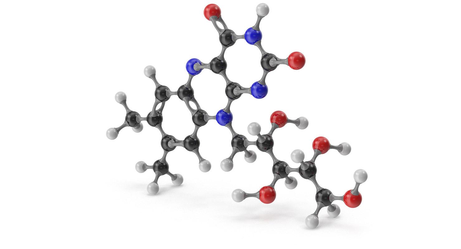 riboflavin molecular 3D