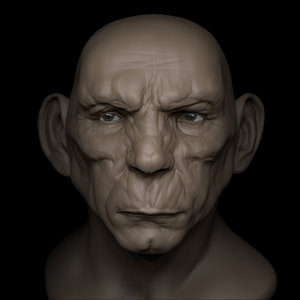 3D orge head model