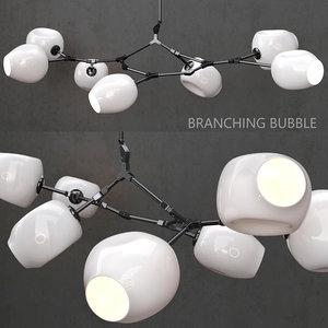 branching bubble 7 lamp model